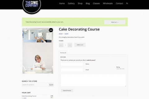The Cake Company Product Page