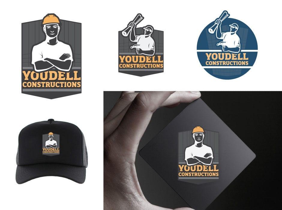 youdell construction logo design
