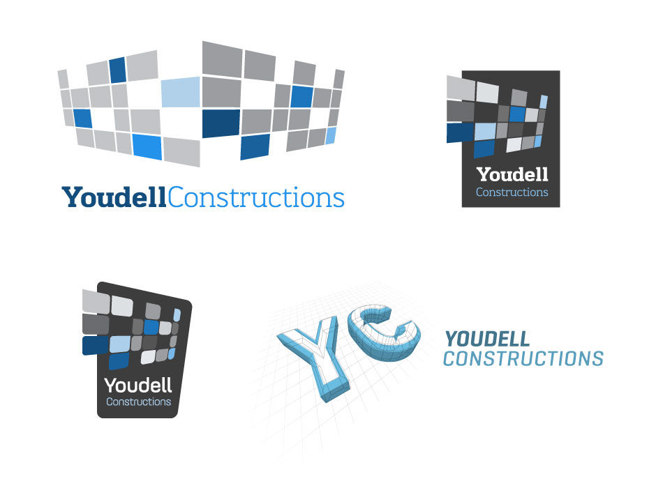 traditional/classic logo design construction company