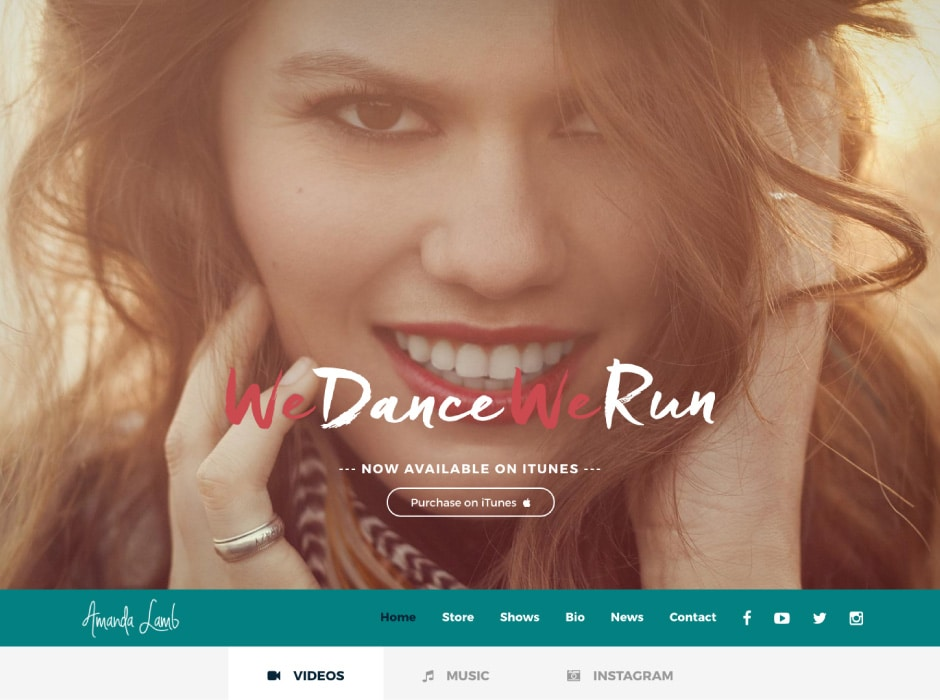 Amanda Lamb We Dance We Run website