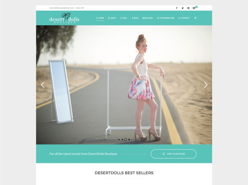 Desert Dolls Boutique Website Concept 1