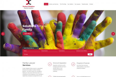 Doolan Callaghan Family Lawyers Website Concept