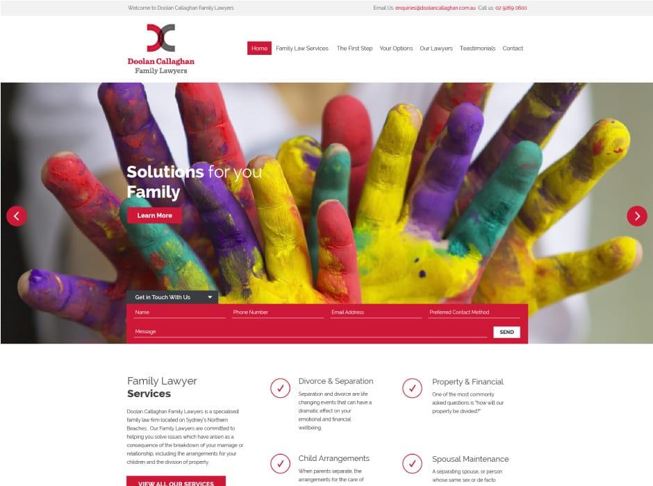 Doolan Callaghan Website Concept