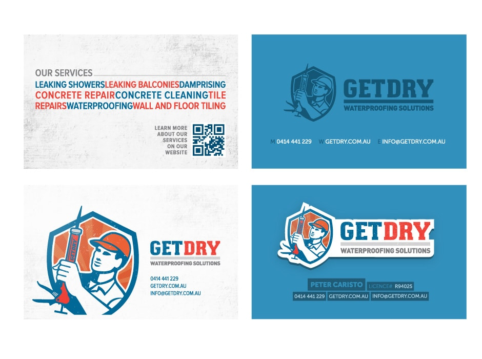 GetDry Business Cards
