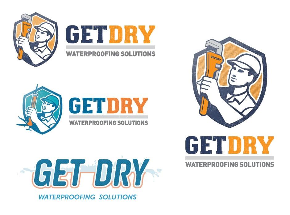 GetDry Logo Design