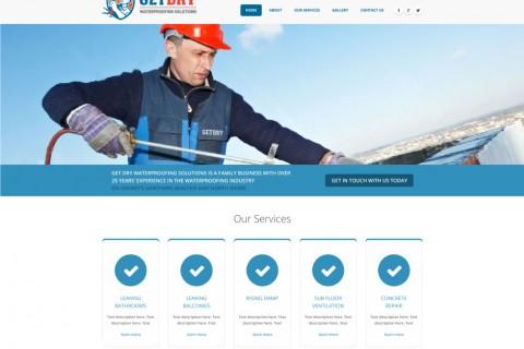 Get Dry Website Concept