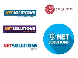 Net Solutions Logo Design 1