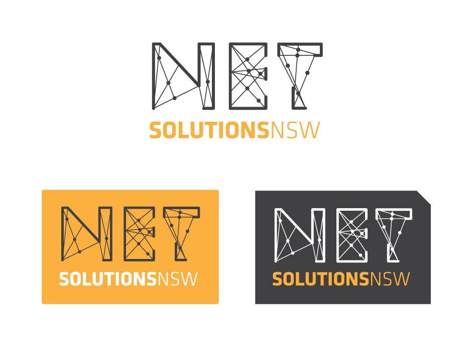 Net Solutions Logo Design 2