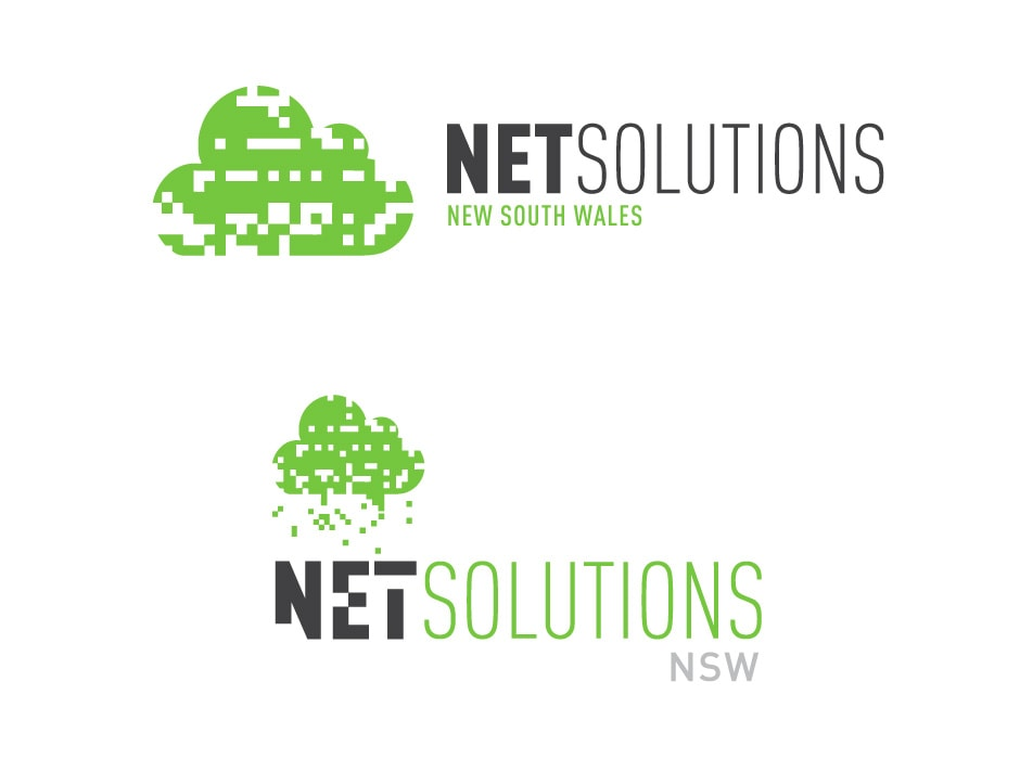 Net Solutions Logo Design 3
