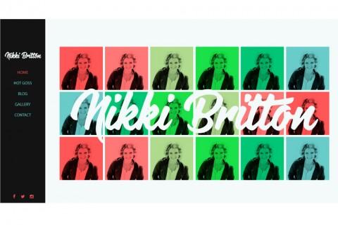 Nikki Britton Website Concept 2
