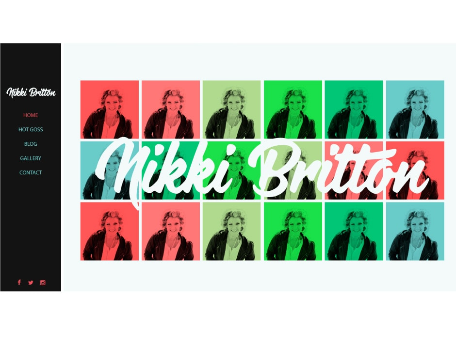 Nikki Britton Website Concept 2
