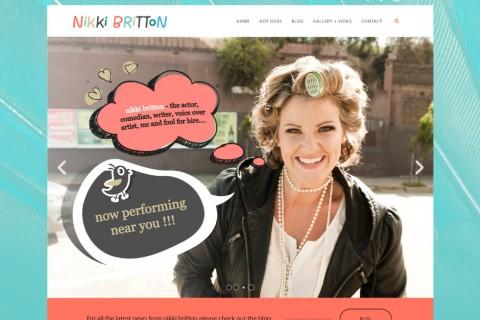 Nikki Britton Website Concept 1