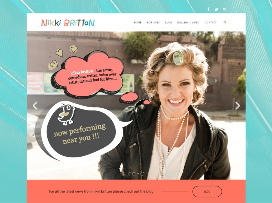 Nikki Britton Website Concept 1