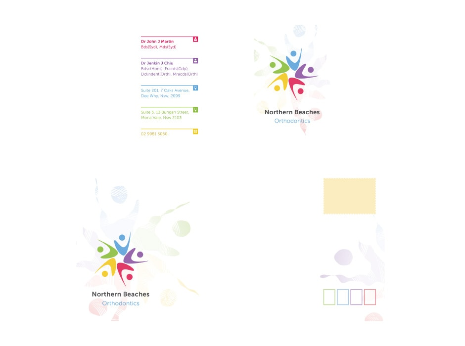 Graphic design solutions including logo business card brochure northern beaches orthodontics business card and envelope design reheart