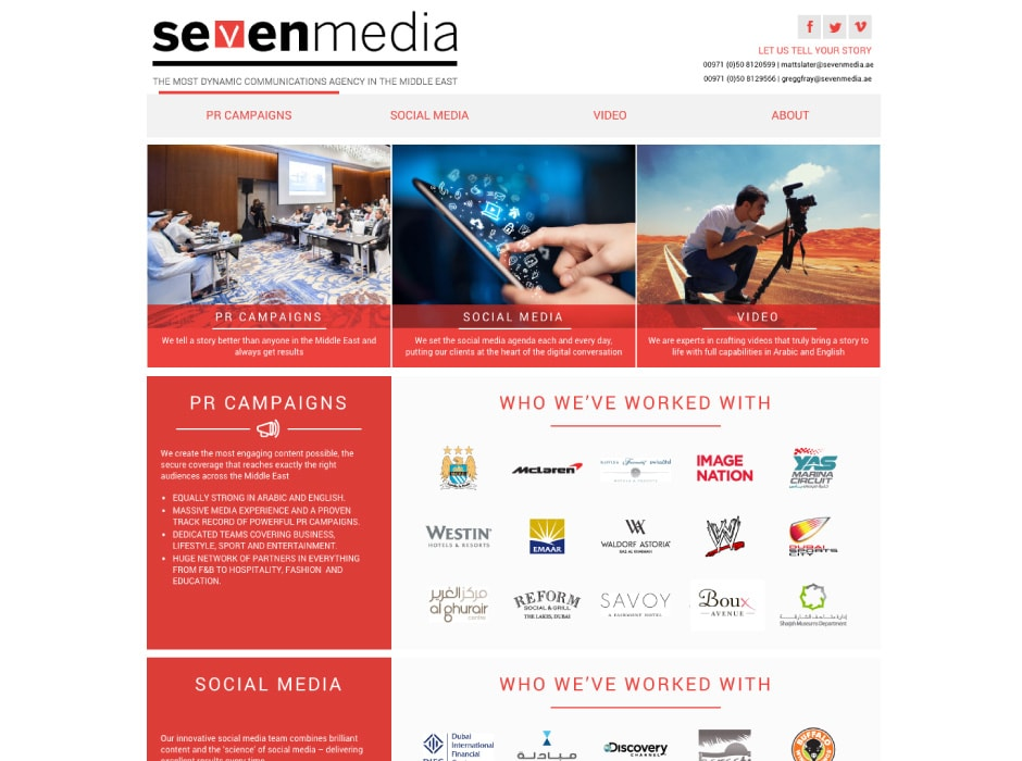 Seven Media Website Development