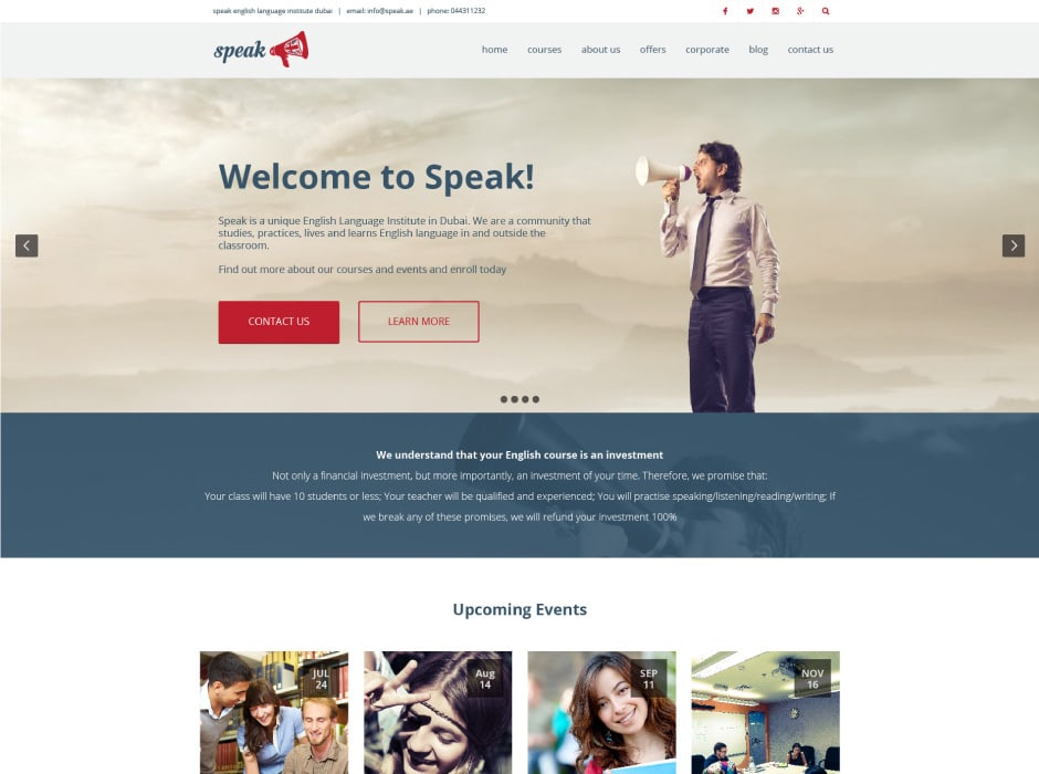 Speak Website Redevelopment 1