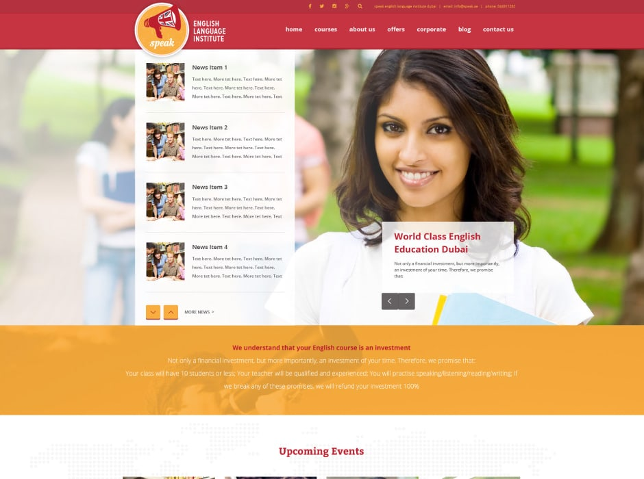 Speak Website Redevelopment 2