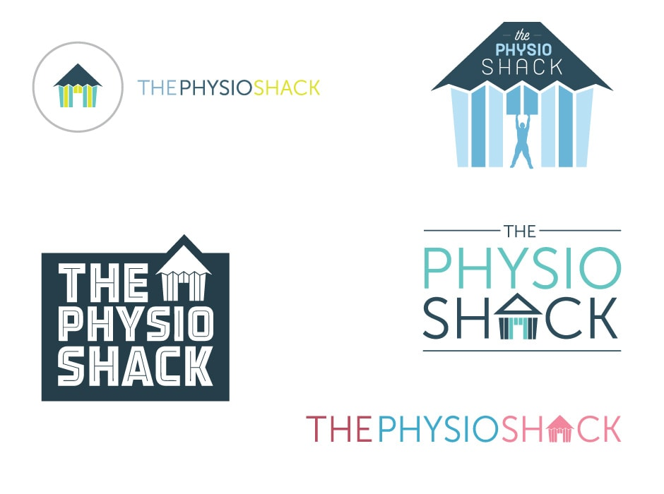 The Physio Shack Logo Concepts