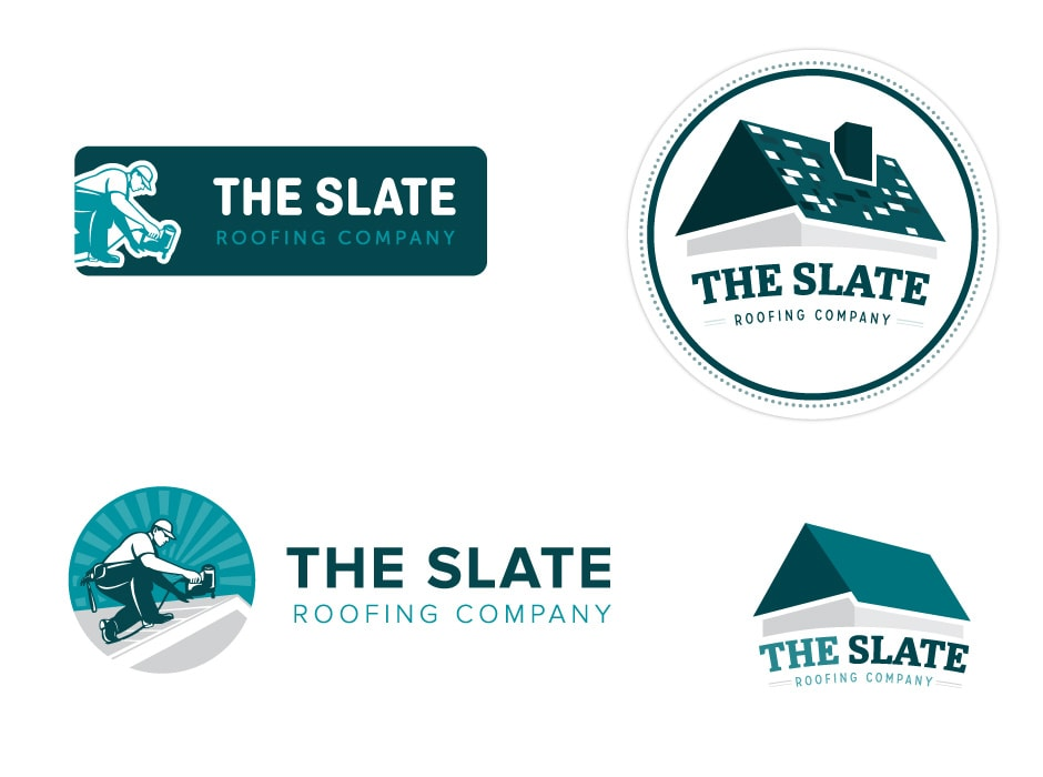 The Slate Roofing Company Logo Design