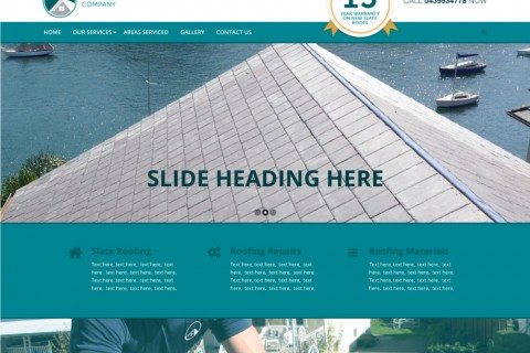 The Slate Roofing Company Website Concept