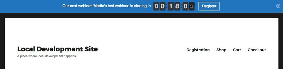 webinar countdown