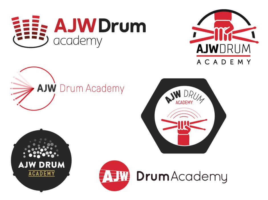 AJW Drum Academy Logo Design