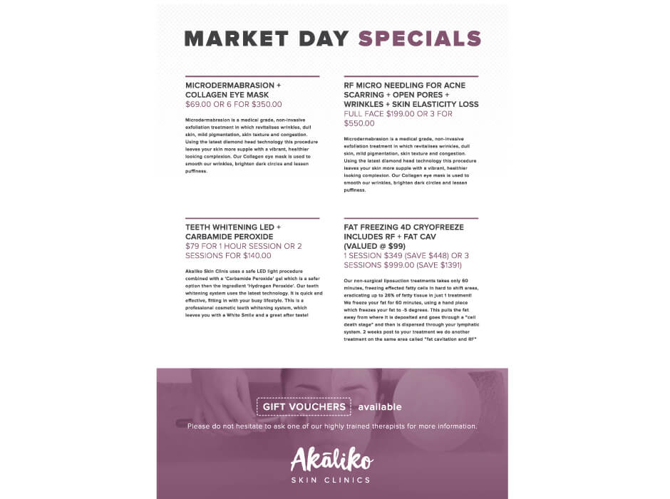 Akaliko Skin Clinics Poster Design