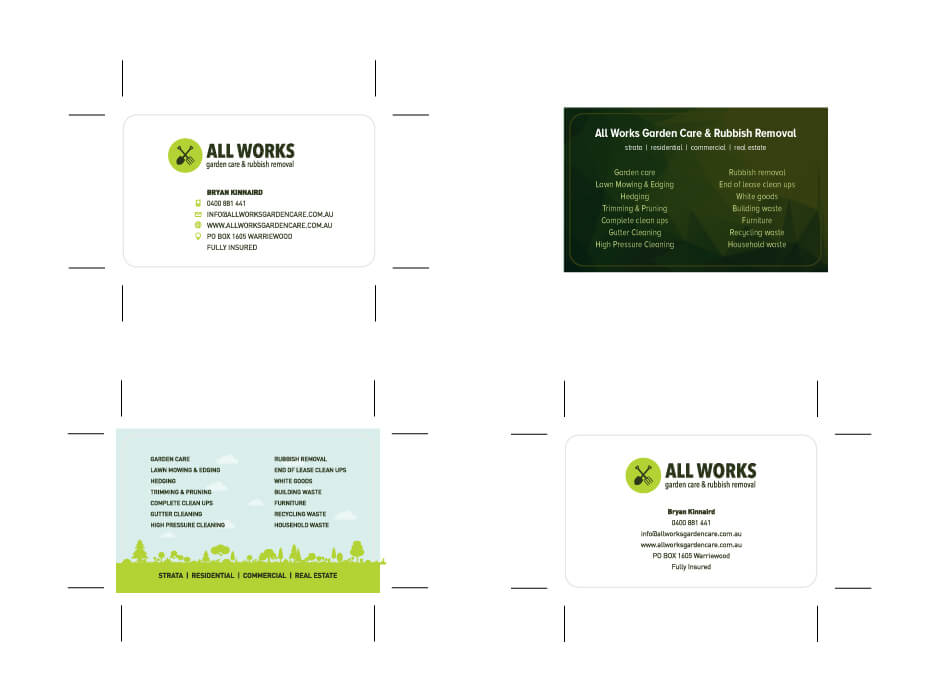 All Works Business Card Design