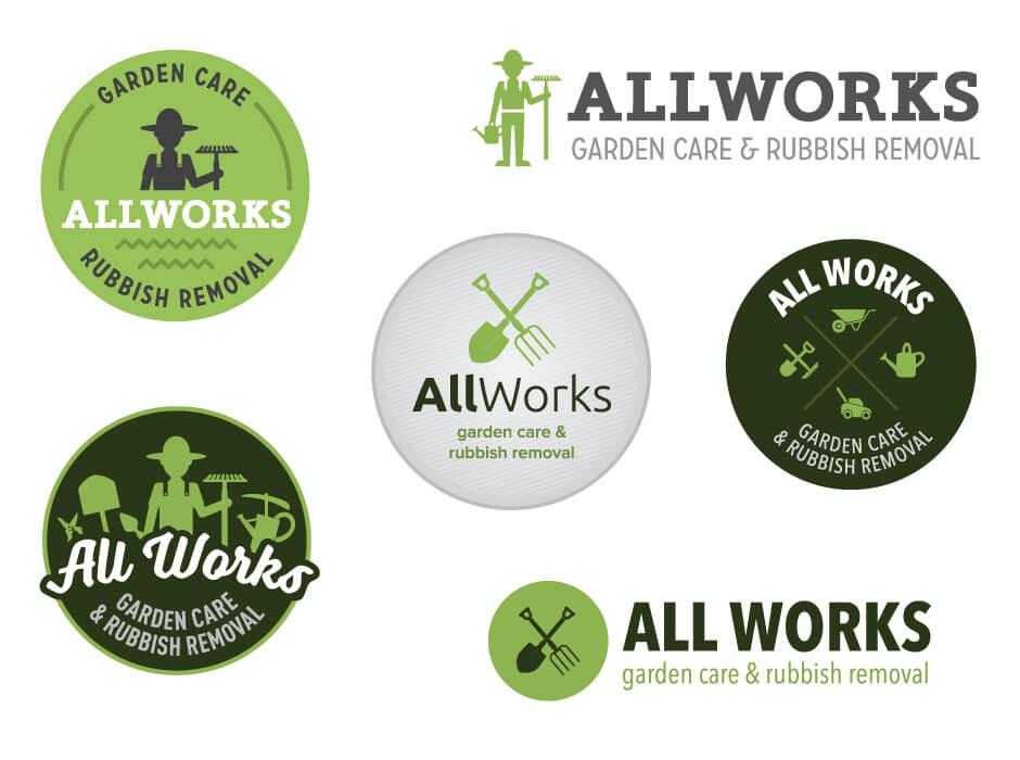 All Works Logo Design