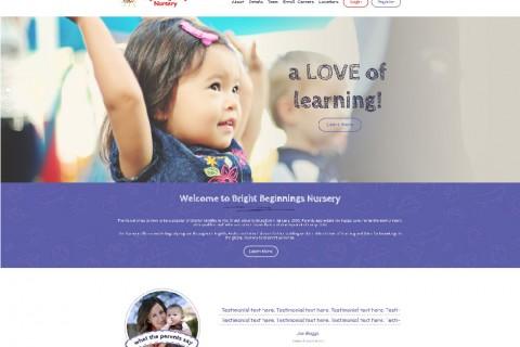 Bright Beginnings Nursery Website Design