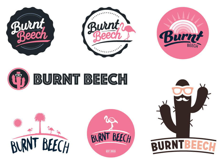 Burnt Beech Candle Logo Design