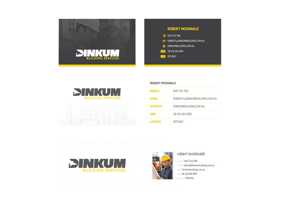 Dinkum Building Services Business Card Design