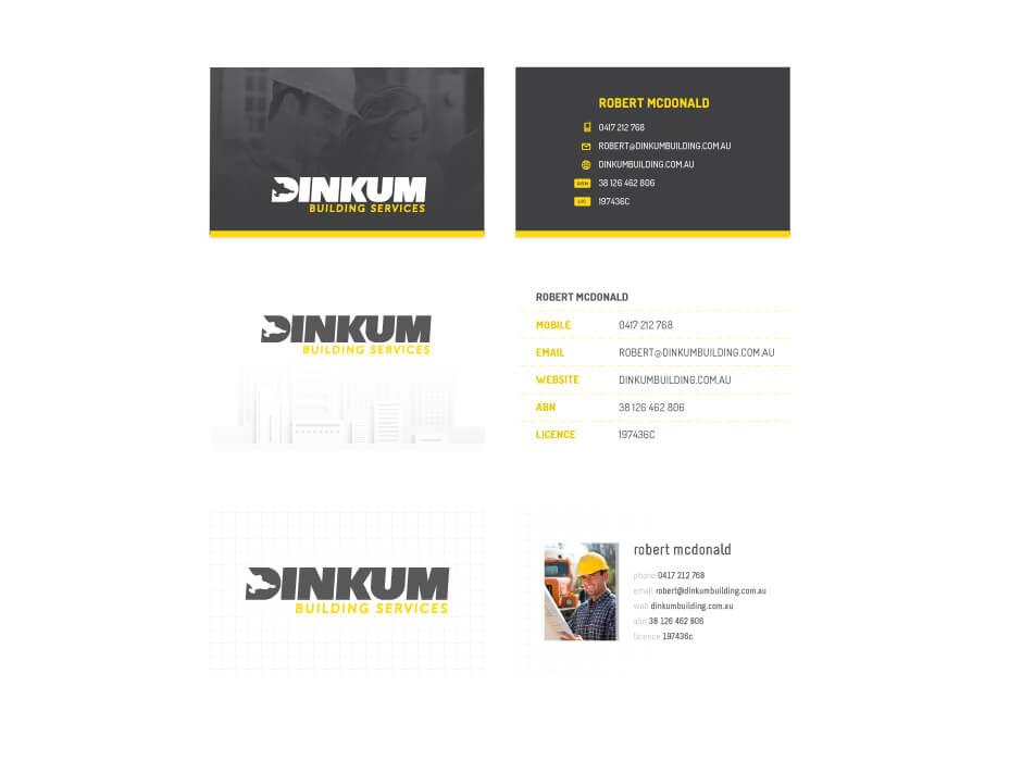 Dinkum Building Services Business Card Design