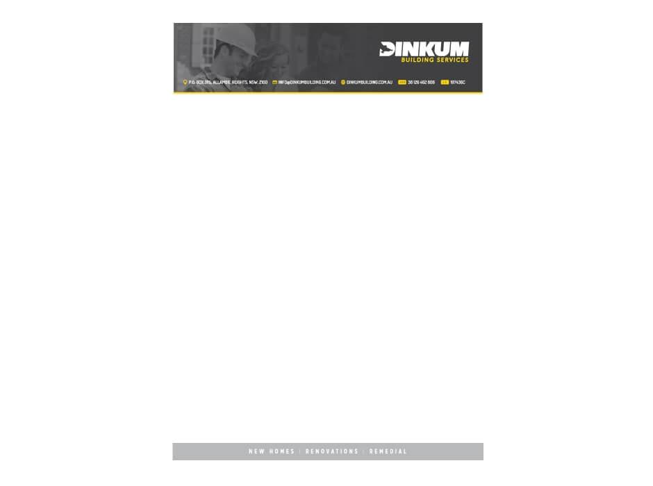 Dinkum Building Services Letterhead Design