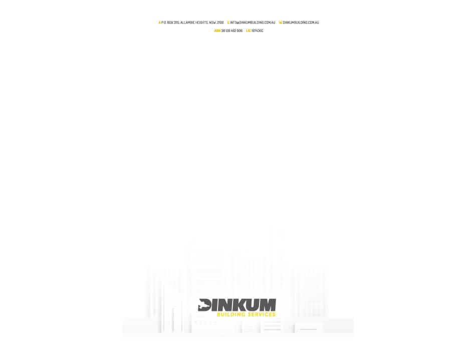 Dinkum Building Services Letterhead Design2