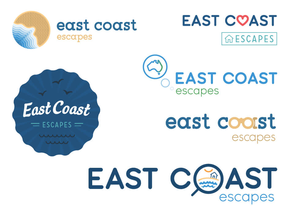 East Coast Escapes Logo Design