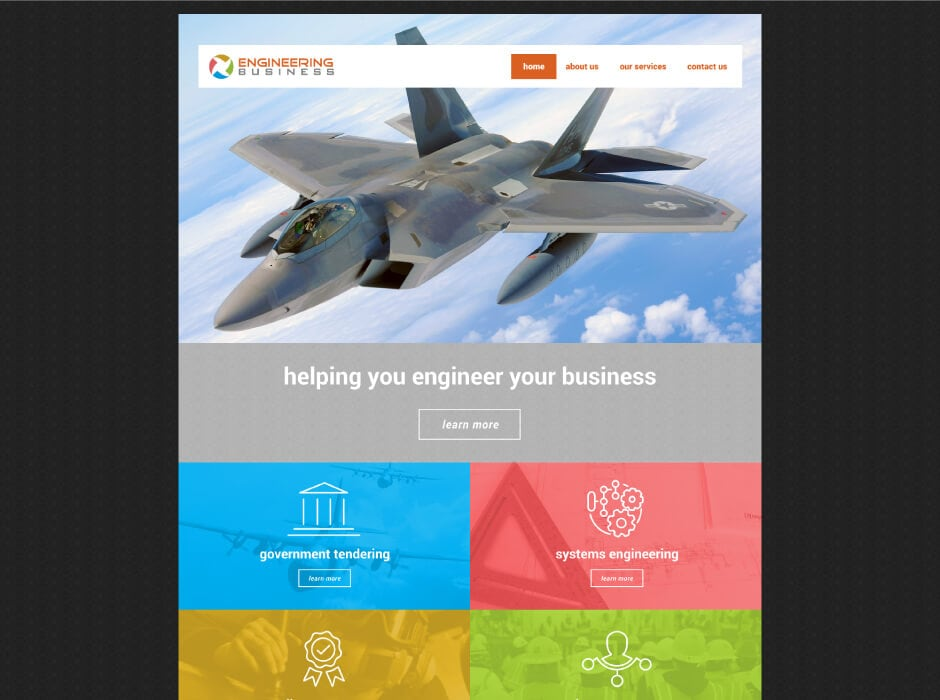 Engineering Business Website Design