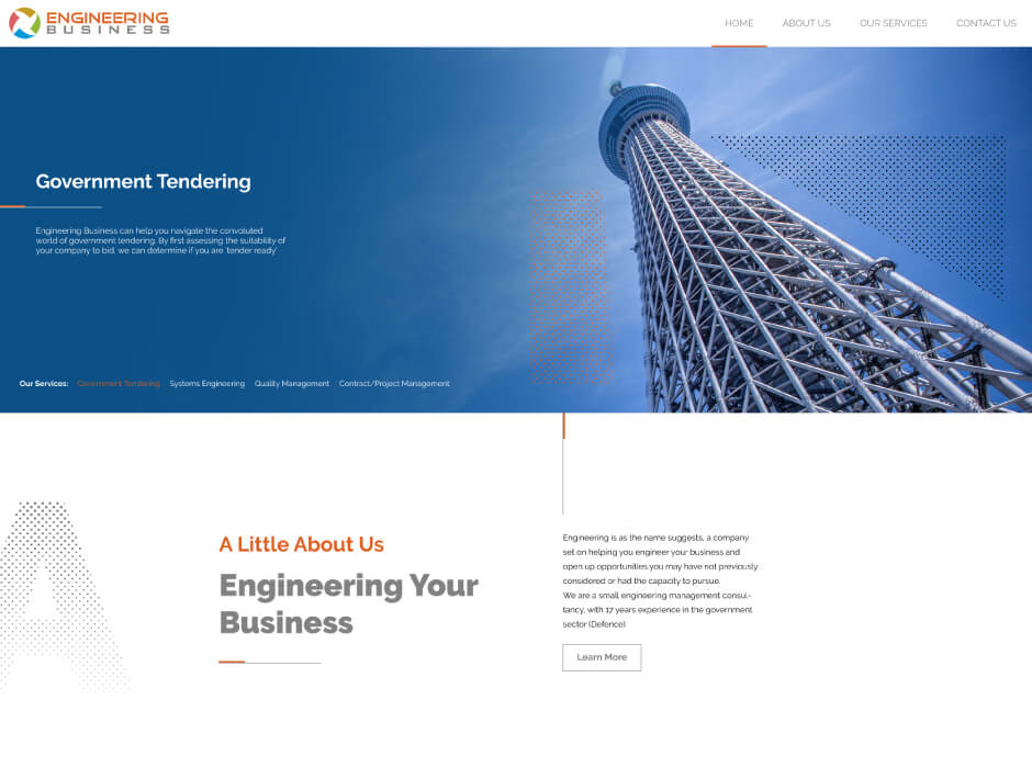 Engineering Business Website Design2