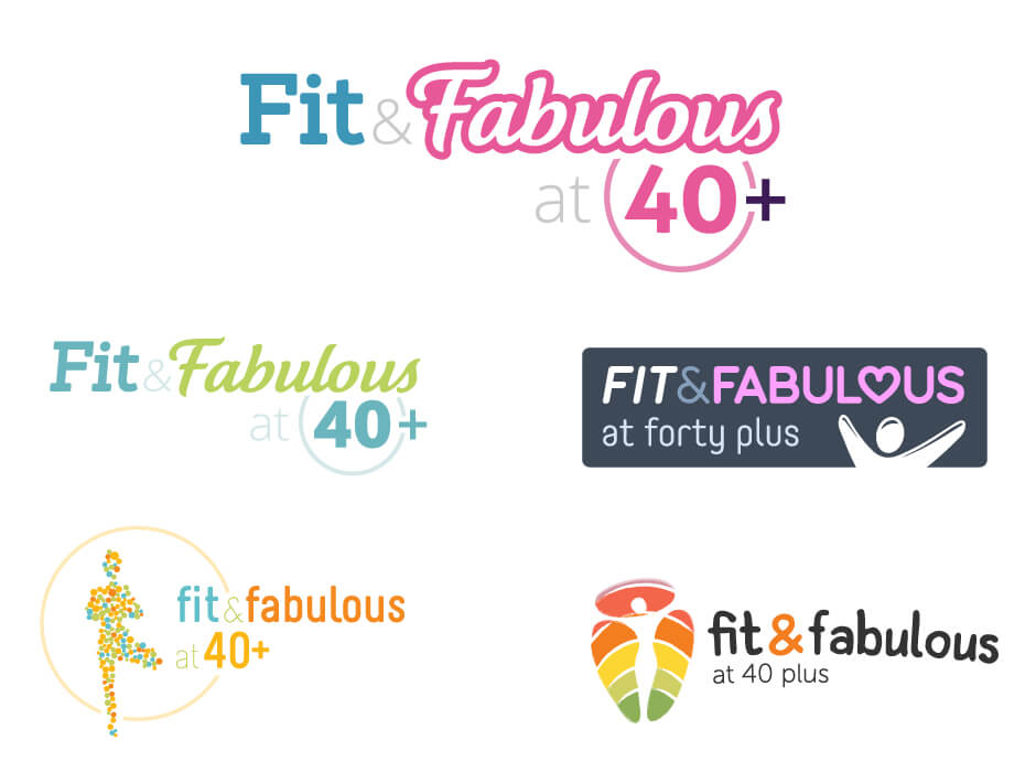 Fit & Fabulous at 40 Plus Logo Design