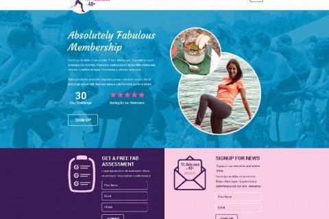 Fit & Fabulous at 40 Plus Website Design