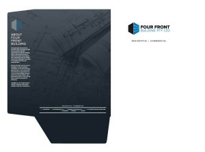 Four Front Building Business Folder Design