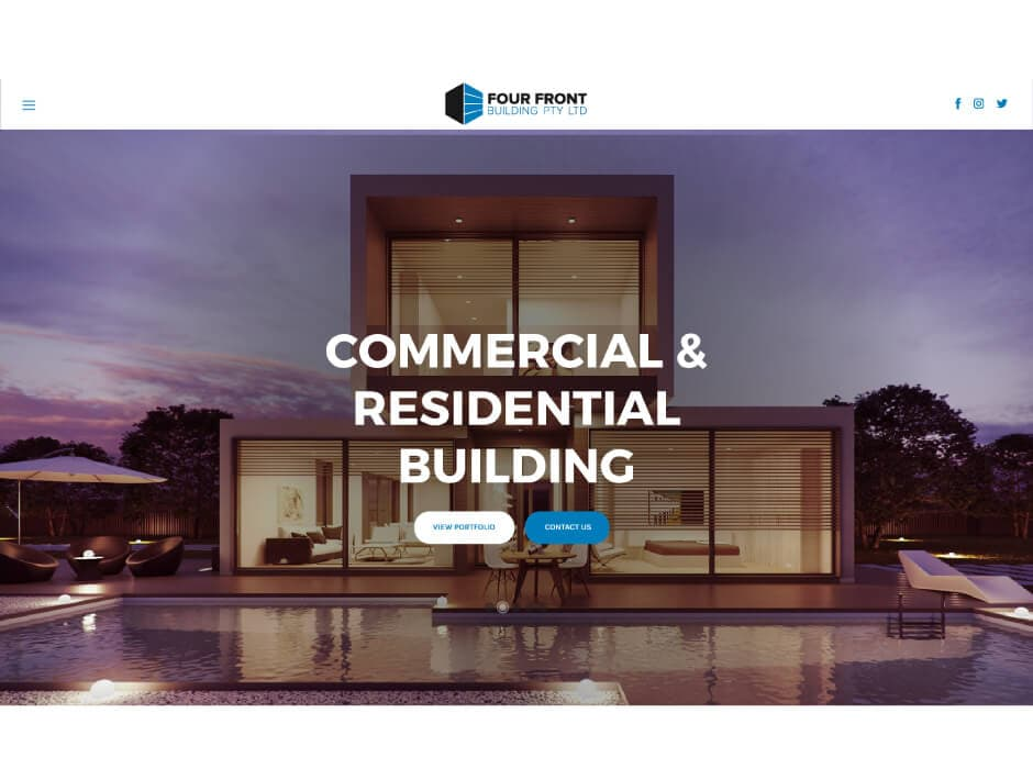 Four Front Building Website Design