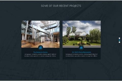 Four Front Building Website Design