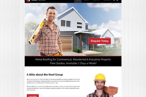 Roof Group Website Design