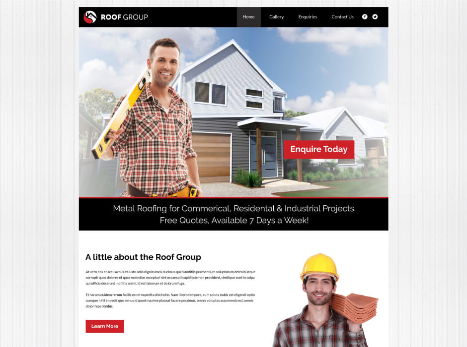 Roof Group Website Design