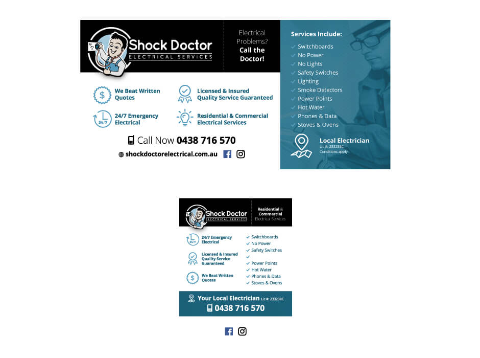 Shock Doctor Electrical Magnet and Flyer Design