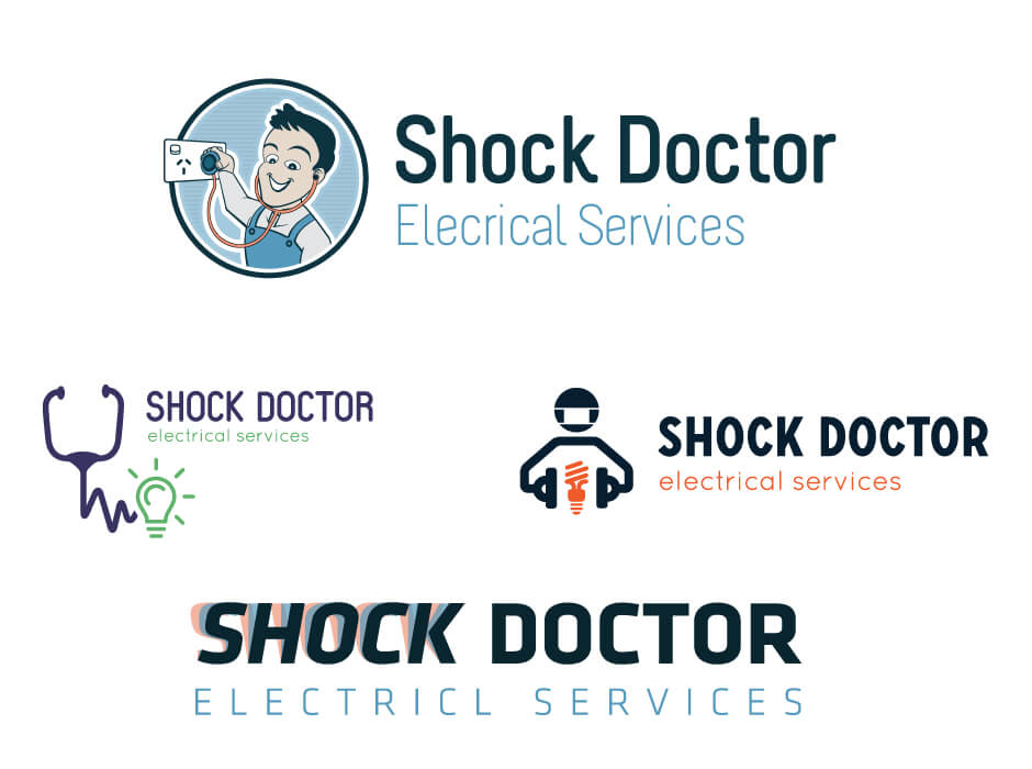 Shock Doctor Electrical Services Logo Design