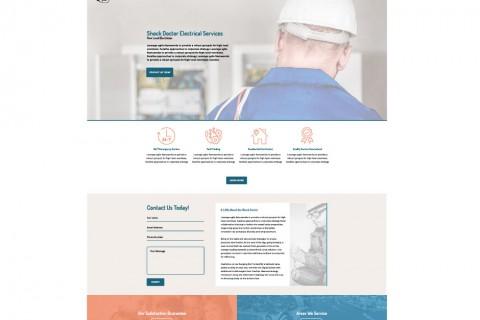 Shock Doctor Electrical Services Website Design