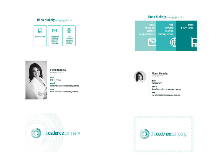 The Cadence Company Business Card Design