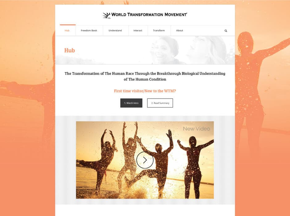 World Transformation Movement Website Design